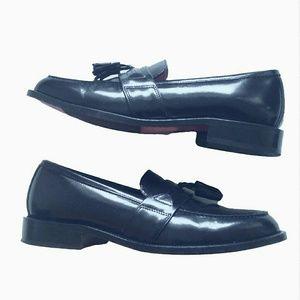 Bostonian Black Leather Tassel Loafers